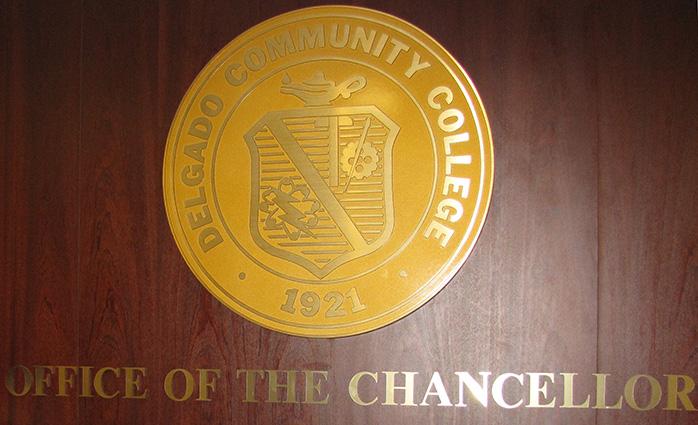 Delgado seal in Chancellor's Office