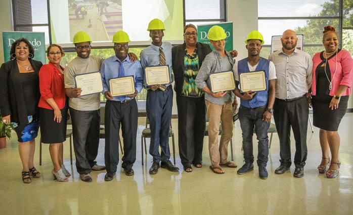 Jericho Carpentry graduation ceremony