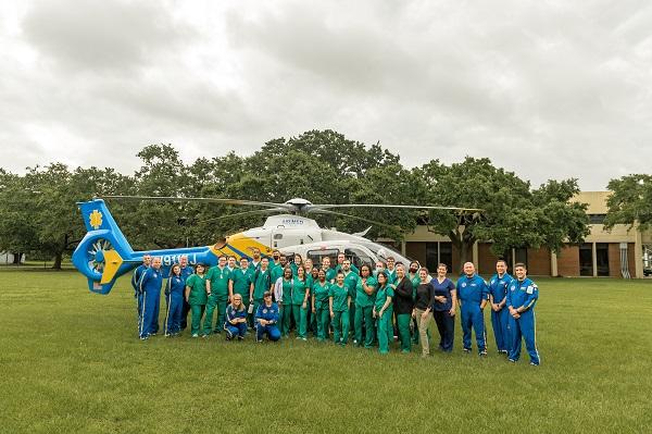 Ochsner Flight Care team visited the City Park Campus