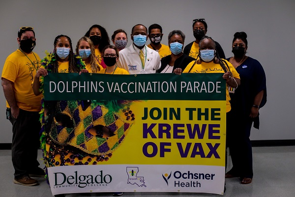 The Delgado Dolphins Krewe of Vax.