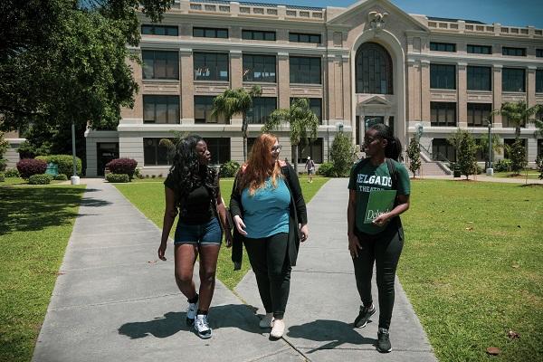 Delgado students walking