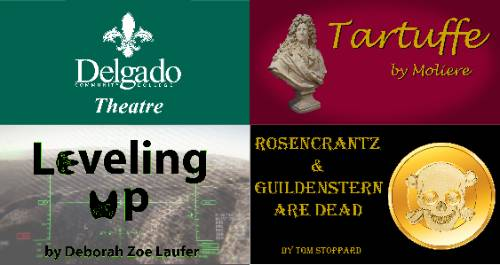 Collage of theatre posters depicting each of the planned theatre productions for the coming season.