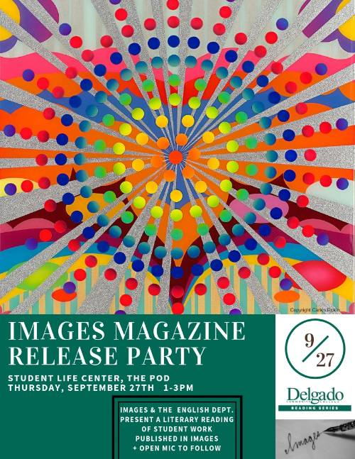 Flyer advertising the Images Magazine Release Party.