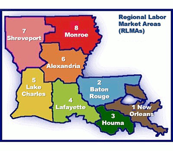 Map of the 8 Regional Labor Market