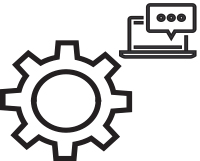 gears & laptop icon