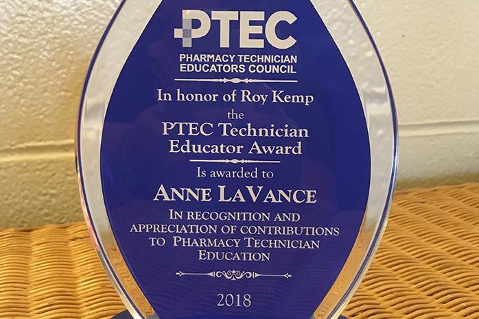 Anne LaVance's award.