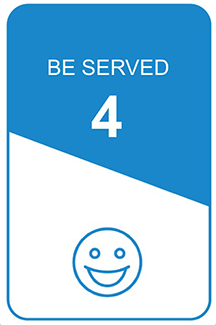 step 4 icon: be served