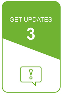 step 3 icon: get updates