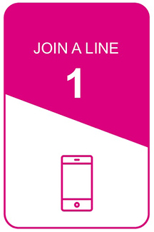 step 1 icon: join a line