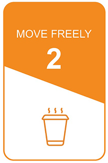 step 2 icon: move freely